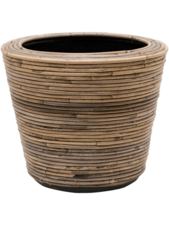 Drypot Rattan Round Grey D:33 cm H:28 cm