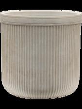 Vertical Rib Cylinder Beige D:30 cm H:31 cm