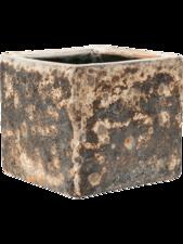 Lava Cube Rust metal D:22 cm H:20 cm